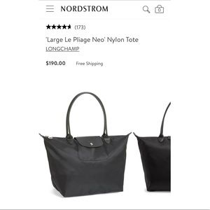 Longchamp   Le Pilage Tote in All Black